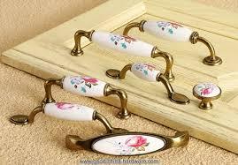 76mm european style bronze tone ceramic drawer handles wardrobe cupboard door handles kitchen bedroom furniture pulls bedroom furniture pulls