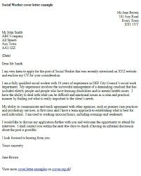 social worker cover letter example   icover org uk