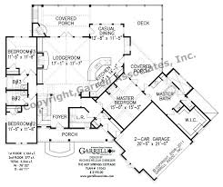 Hot Springs Cottage House Plan   House Plans by Garrell Associates    hot springs cottage house plan   st floor plan