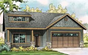 House Plan at FamilyHomePlans comBungalow Contemporary Craftsman Ranch House Plan Elevation