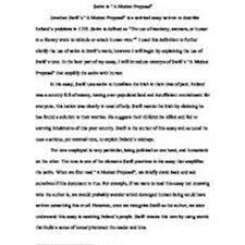 a modest proposal irony essay at essaysnetpl a modest proposal irony essay pic