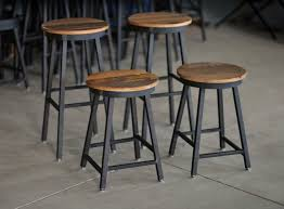 furniture black metal counter stool using brown wooden round seat with wood and leather bar black mini bar home wrought