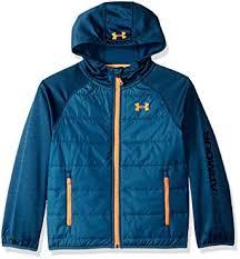 Under Armour Boys Day Trekker Hooded Hybrid Jacket Insulated ...