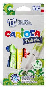 Купить <b>Фломастеры для ткани Carioca</b> CROMATEX 40956 6цв ...