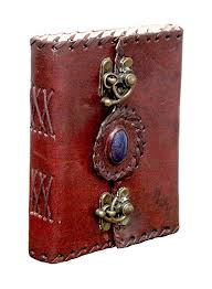 Anshika International <b>Leather Journal Lock Diary</b> Book with Hand ...