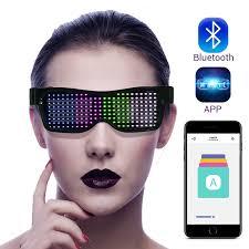 <b>LED luminous</b> glasses <b>Bluetooth</b> mobile phone control <b>editing</b> ...