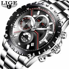 <b>2019 LIGE</b> New Fashion <b>Mens Watch Men</b> Full Steel Business ...