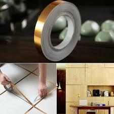 <b>1 PCS</b> 50M Tile Decor Gold Silver Foil Line Tape Sealing Strip Floor ...