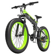 <b>BEZIOR</b> X1000 Folding Electric Bike 1000W 40km/h Black Green