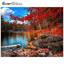 Homely <b>Evershine</b> 5D <b>Diamond</b> Embroidery Autumn Pictures ...