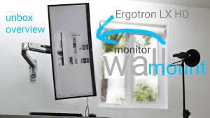 <b>Ergotron LX</b> HD Sit-Stand <b>Wall</b> Mount LCD Arm - YouTube