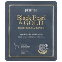 Petitfee <b>Гидрогелевая маска</b> для лица с <b>черным</b> жемчугом и ...