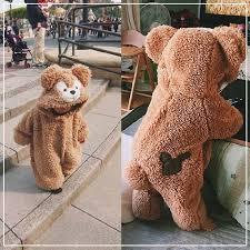 Autumn/<b>Winter</b> Cashmere <b>Cute Cartoon</b> Bear Jumpsuit » Blu Bambina