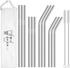 Hiware 12-Pack Reusable Stainless Steel Metal ... - Amazon.com
