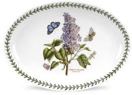 """<b>Блюдо овальное</b> Portmeirion """"Ботанический сад.Сирень"""" <b>28см</b> ..."""