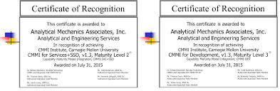 analytical mechanics associates inc maturity level 3 rated