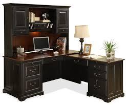 l shaped dark brown stained wooden computer desk shaped wood desks home