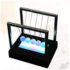 Buy LONGZUYS <b>Newton's</b> Cradle - <b>Newton Swing</b> Balance Ball <b>LED</b> ...