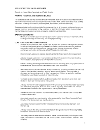 resume job description for s associate cipanewsletter retail s associate job description for resume best business