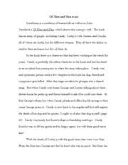 Of Mice and Men Essay Marked by Teachers Of Mice and Men Essay