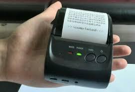 Foodora BT <b>ZJ</b>-<b>5802 Portable</b> Bluetooth Thermal 58mm Receipt ...
