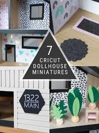 <b>How to Make</b> 7 Adorable <b>DIY Dollhouse Miniatures</b> With Cricut Maker
