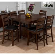 tall dining chairs counter: dining table taylor wood counter height dining table amp stools in cherry by jofran high