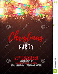 christmas party flyer template stock vector image  christmas party flyer template