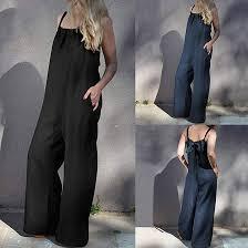 GreatestPAK <b>Womens Loose Wide Leg</b> Bib Pants Plus Size Summer ...