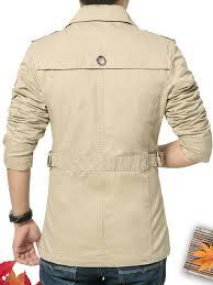 Buy Jisney <b>Men's Casual Jacket Turn Down</b> Collar Casual Long ...