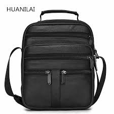 <b>HUANILAI Men Genuine</b> Leather <b>Bags</b> Messenger <b>Bag Men</b> ...
