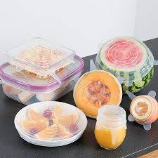 <b>6Pcs</b>/Set Kitchen Tools <b>Silicone</b> Lid Stretch Lids Food Fresh Cover ...