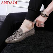 <b>ANDAOL Men'S Leather</b> Casual Shoes New Soft Leather Non Slip ...