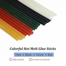 Multiple Colors Colorful Hot Melt <b>Glue Sticks 7mm</b> 7x150mm ...