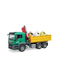 <b>Самосвал</b> MAN c 3 мусорными контейнерами Bruder 8746437 в ...
