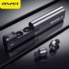 AWEI <b>T8 TWS Bluetooth</b> Earphone True Wireless Earbuds With ...
