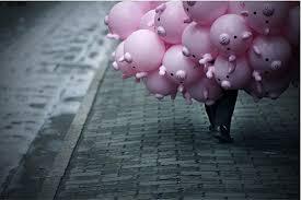 Resultado de imagen de pigs with balloons