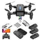 <b>M9 PRO Mini</b> Folding Children RC Drone Toy Black 720P Three ...