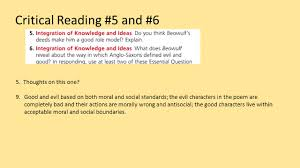 beowulf close reading questions review literary analysis and 5 critical