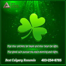 best calgary resumes greeting card happy st patrick s day