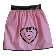 Винтажный стиль талии <b>фартук</b>, розовый и черный в горошек ...