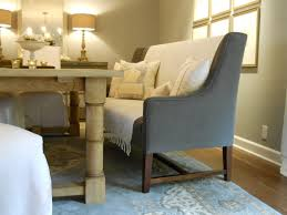 banquettes furniture rustic dining room filled blue table area rug and gray upholstered bench with back banquette dining room furniture