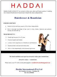 best job site in sri lankacvlk beautician jobs