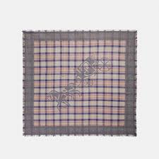 <b>Horse</b> and Carriage <b>Plaid</b> Print Oversized Square <b>Scarf</b> | COACH
