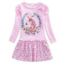 <b>JUXINSU Toddler Girls</b> Long Sleeve Wavelet Point Dresses <b>Cotton</b> ...