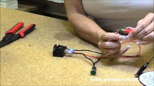Illuminated On-Off Rocker Switch with Wiring Products - YouTube