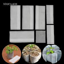 Super Deal #edd01 - <b>100PCS Plant Fiber</b> Nursery Pots Seedling ...