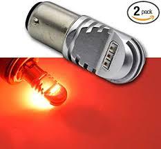 Ruiandsion <b>1157 LED</b> Bulb DC <b>12</b>-<b>24V</b> 30W Red 1000LM CREE ...
