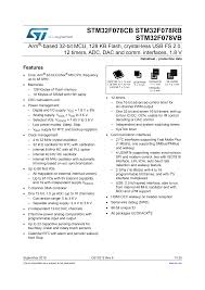 Datasheet - STM32F078CB STM32F078RB STM32F078VB - Arm ...