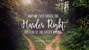 Image result for OCtober 9, 2016 Choose the harder Right